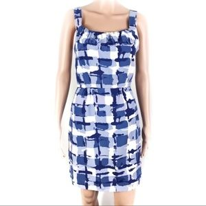 Banana Republic Abstract Print Blue/White Dress